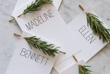 Place Card Holders / Ideas for place card holders.