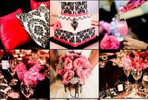 Colour Schemes: Black & Pink Wedding Table Colour Scheme / Ideas for wedding tables and accessories following a black and pink colour scheme. More colour scheme ideas at http://www.toptableplanner.com/articles/wedding_colour_schemes.php