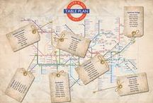 London Underground Wedding Table Plan / Ideas for creating a London Underground themed wedding seating plan. Also see our article at http://www.toptableplanner.com/blog/london-underground-wedding-table-plan