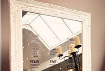 Mirror and frame wedding seating plans / Ideas for using mirrors and frames to create your wedding seating plan. http://www.toptableplanner.com/blog/mirror-and-frame-wedding-seating-plans