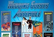 Comics and Superhero Wedding Seating Plans