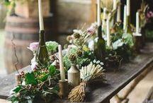 Rustic Wedding Style / rustic wedding ideas, organic wedding style, harvest table centerpiece ideas, harvest table centrepiece ideas, Follow us on Instagram @oohlaladesigns