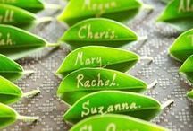 Eco friendly seating plans / Read more about how to create your very own eco friendly wedding seating plan on our blog: http://www.toptableplanner.com/blog/a-green-eco-friendly-wedding-table-plan