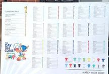 Football wedding seating plans / Seating charts for your wedding with a football theme. We've put together more ideas in our article http://www.toptableplanner.com/blog/football-themed-wedding-table-plans