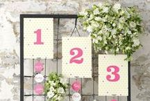 Floral Wedding Table Plans / Loads of ideas for creating a gorgeous floral seating plan - more ideas for summer and flowers in our blog post at http://www.toptableplanner.com/blog/summer-themed-wedding-seating-plan