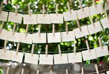Escort cards for your wedding reception / Escort cards can be a great way to help your guests find their seats at your wedding reception. Here are some ideas! More ideas on our blog at http://www.toptableplanner.com/blog/escort-cards-an-extra-finishing-touch-for-your-wedding-seating-plan