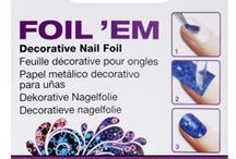 Foil 'Em / The easy way to decorate your nails with foil! Use Foil'Em to create custom embellished designs. Apply over your polish and seal it with Nail Art Sealer. Use your imagination and get creative!  / by ItsSoEasyNails