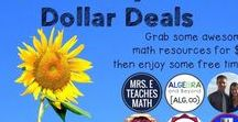$1 Secondary Math DEALS! / Each Tuesday in December my pals and I will put a secondary Math resource on sale for just $1! Check back each Tuesday for the new list of resources!