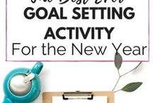 | Goal Setting | / Set and achieve your biggest life goals with these tips. Be a goal digger! Includes goal setting and goal achieving, family, career, fitness and nutrition goals, worksheets, printables, activities, and even goal setting for kids!