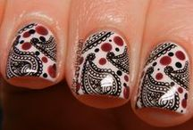 Stamping Manicures / Manicures done with stamping plates