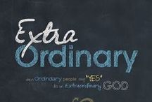ExtraOrdinary / ExtraOrdinary: when ordinary people say yes to an extraordinary God.  Six-week study Bible study written for women from all walks of life.  Available on christinalang.me and Amazon January 2015.