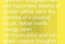 My favorite color / Yellow- it makes me happy