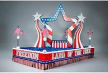 Patriotic & 4th of July Parade Float Supplies / Proudly display your patriotism with a festive Red, White and Blue Parade Float!