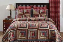 Braxton Quilted Collection/Beth's Country Primitive Home Decor / Braxton Quilted Collection features a beautiful patchwork design in apple red, natural and ebony tones. Matching window treatments and shower curtain available. Shop for it now at Beth's Country Primitive Home Decor. Save 10-20%!!! www.BethsCountryPrimitiveHomeDecor.com