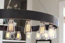 DESIGN | lighting / Interesting light fixtures for your home.  #lighting #light #industrial #farmhouse #design