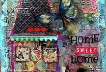 Canvas Creations / I love working with canvas & using different mixed media & these pieces are just pure eye candy! / by Creatique Candy
