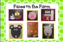 Theme 8 :: Animals / Week 1 - Farm Animals :: Week 2 - Zoo Animals :: Week 3 - Bugs :: Week 4 - Ocean Animals / by Sara Rains