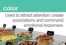 Visual Merchandising: Color / Effective use of color can attract attention to your food display and help you sell more. Follow Hubert for visual merchandising ideas and products!