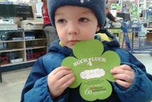 Buck 4 Luck / Photos from the #B4L campaign that runs annually from early February to St. Patrick's Day. $1 donation gets you a shamrock, and help us provide services and equipment to those with muscular dystrophy. / by Muscular Dystrophy Canada