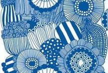 Blue and White and Blue / I love blue and white and blue // art, design, fashion, home decor