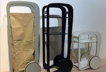 Fleimio Bag / Fleimio Bag is an accessory for the Fleimio Trolley converting the trolley into a storage location for textiles or toys. 100% cotton.