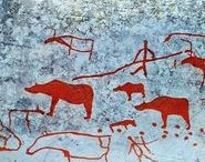 Cave painting, rock art, Aborigines /