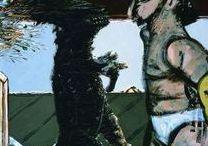 Νίκος Χουλιαράς / Γεννήθηκε στα Ιωάννινα το 1940.Σπούδασε γλυπτική και σκηνογραφία στην Α.Σ.Κ.Τ. στην Αθήνα, από όπου και αποφοίτησε το 1967.  Το 1970 πήγε στο Παρίσι, όπου αφιερώθηκε στην ζωγραφική.  Πραγματοποίησε την πρώτη του ατομική έκθεση στην Αθήνα το 1969.  'Εκτοτε παρουσίασε το έργο του σε πληθώρα ατομικών αλλά και ομαδικών εκθέσεων τόσο στην Ελλάδα, όσο και στο εξωτερικό. Έφυγε από τη ζωή το 2015.