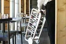 Fleimio Wine Trolley / Fleimio Wine Trolley is a modified version of the Fleimio Trolley for moving and storing wines.