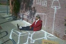 ART-Streat Art/graffiti / Il y a des gens qui peuvent être ailleurs quand ils veulent, ils n'ont pas besoin d'avoir un passeport. Jacques Prévert.  / by Chantal Demaire