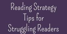 Reading Strategy Tips for Struggling Readers / Jan Richardson | sight words | word walls | Reading Recovery | skills checklists | Fountas & Pinnell | guided reading | Daily 5 | reading strategies | comprehension strategies | close reading |