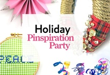 Holiday Pinspiration Party / On December 4, 2012, we're hosting our very first live Holiday Pinspiration Party with these amazing crafty bloggers: Jodi Kahn, Brett Bara, Natalie Soud, Laura Fenton, and Michelle Edgemont.