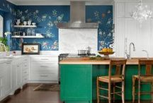 Colorful Decorating Ideas / Color, color, color! Add personality to your space with bold hues, courtesy of Country Living and POPSUGAR Home.