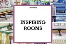 Inspiring Rooms / Inspiring decorating ideas and beautiful rooms from Country Living, House Beautiful, Elle Decor, and Veranda magazines.