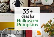 Halloween Pumpkin Ideas / New ideas for jack-'o-lanterns, pumpkin carving ideas, painted pumpkins, and more.