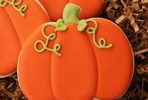 Fall Cookies and More! / From maple leaf shaped pie crust to decorated football cookies to fall apple cut-outs for kids... Autumn's rich colors inspire color and creativity!