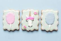 Decorated Cookies for Girls / Sweet decorated cookie ideas for little girls, tweens and teens. Cookie cutter shapes for girls.