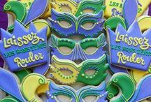 Mardi Gras Cookies / Cookie decorating ideas for mardi gras parties!