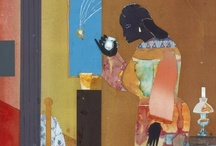 "Romare Bearden ~ 1911-1988 / ...Saw ""Southern Recollections"" show at the Newark (NJ) Museum. Seeing Bearden's work up close was AMAZING! Truly a Collage masters... A prolific artist, writer, musician, he was part of the talented tenth who came of age during the Harlem Renaissance. Many artists and art historians consider him one of America's most important and inventive artists. His words: ""The artist has to be something like a whale swimming with his mouth wide open, absorbing everything until he has what he really needs."""