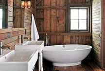 Wood Bathrooms / Some great ideas for Wood in Bathrooms!