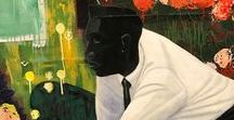 Kerry James Marshall ~ b.1955 / is an American artist born in Birmingham, Alabama. He grew up in South Central Los Angeles, and is known for large-scale paintings, sculptures, and other objects that take African-American life and history as their subject matter.