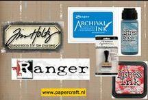 Tim Holtz / Ranger / Uitleg over en voorbeelden met de producten van Ranger met onder meer de productlijnen van Tim Holtz.