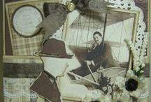 Vintagekaarten / Oud, ouder, oudst … Voorbeelden om ideeën op te doen om kaarten in deze specifieke stijl te maken.