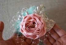 Paper and Fabric Flowers / Flowers made from paper. Flowers made from fabric.
