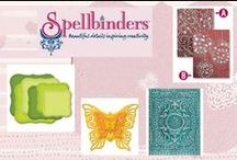 Spellbinders / Kaarten en andere creaties als idee / voorbeeld waarbij  mallen van Spellbinders zijn gebruikt.