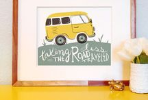 GIFTS FOR HOME | Handmade Holiday Gift Guide 2013 / Prints, wall decor, stationary, and gifts for the home.