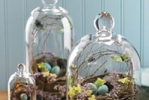Cloche it! / Cloches, glass domes, with or without bases, stemmed cloches,  / by Terri Adcock