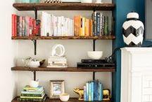 Home Decor | S H E L V I N G / Wall shelving ideas, design, shelving inspiration, and decor.