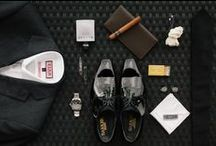 Grooms Flat Lay / Style staples. Flat Lays for men. Fashion forward wedding details arranged flat. #flat #lay #flat details #fashion #foward #wedding #mensfashion #mensstyle