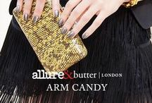 #bLxAllure Arm Candy / Allure and butter LONDON have joined forces to create a collection of vibrant, trendsetting shades that highlight and accessorize your individual style. Take self-expression to the next level with a range of colours and finishes, from sheer crème, textured glitter and metallic.   / by butter LONDON