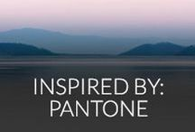 inspired by: pantone / Celebrating Pantone's gorgeous 2 colours of the year, Rose Quartz and Serenity